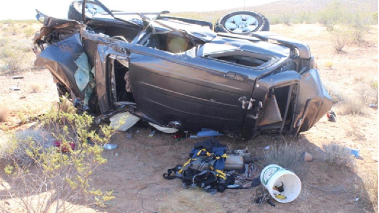 UPDATE: Victim identified in rollover crash on Interstate 15