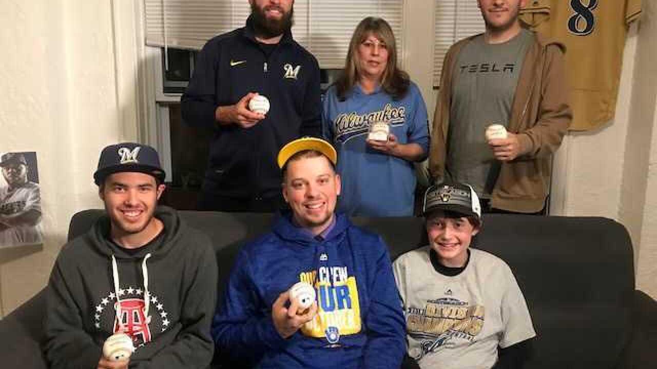 Brewers fan has caught 85 home run balls