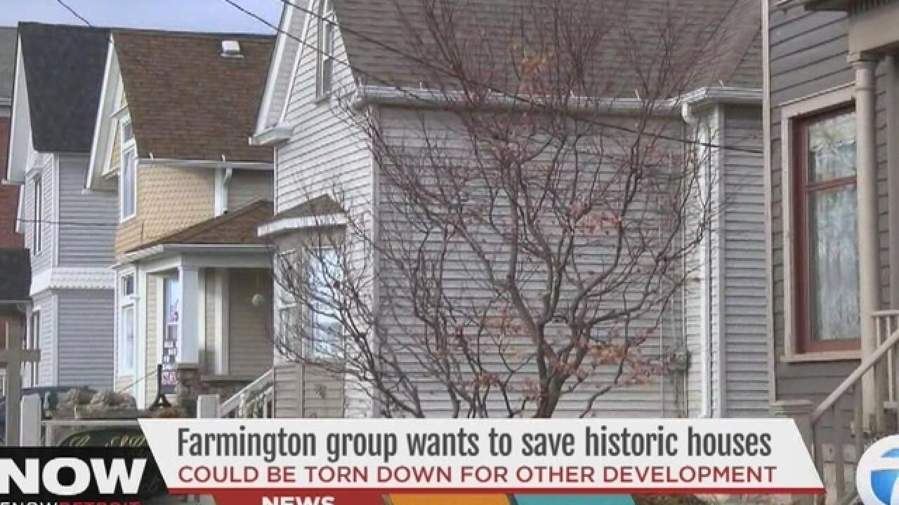 Farmington group wants to save historic homes