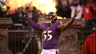 Chargers Ravens Football Terrell Suggs AP Photo