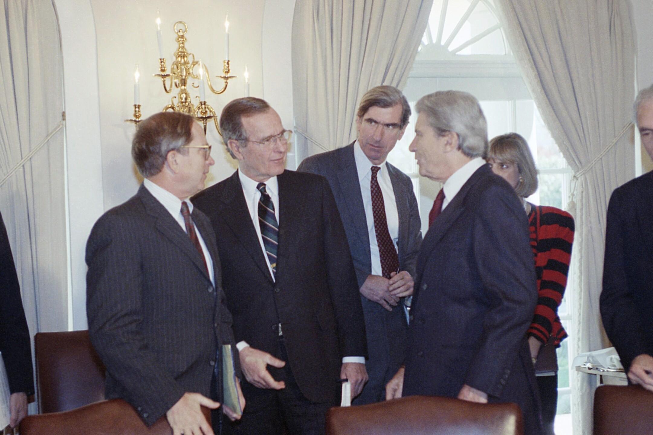 President George H. Bush and John Warner