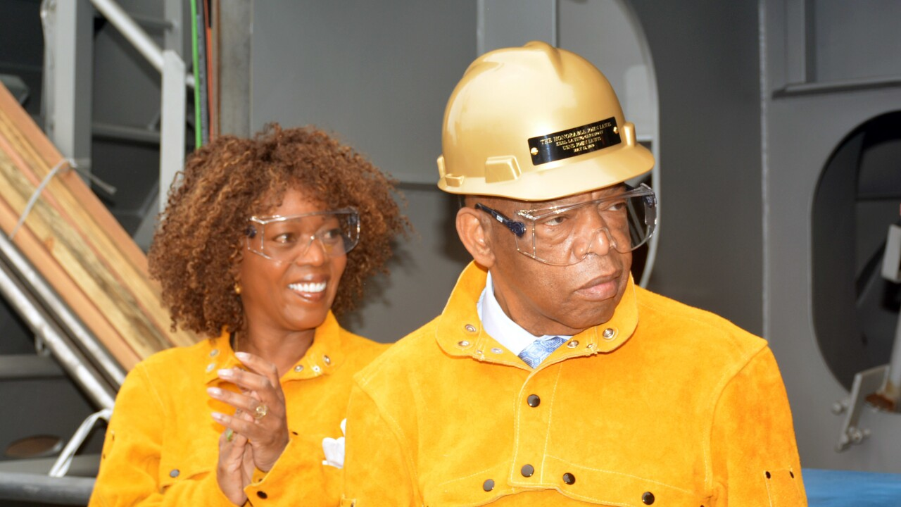 Congressman John Lewis Attends Keel Laying of Namesake Ship