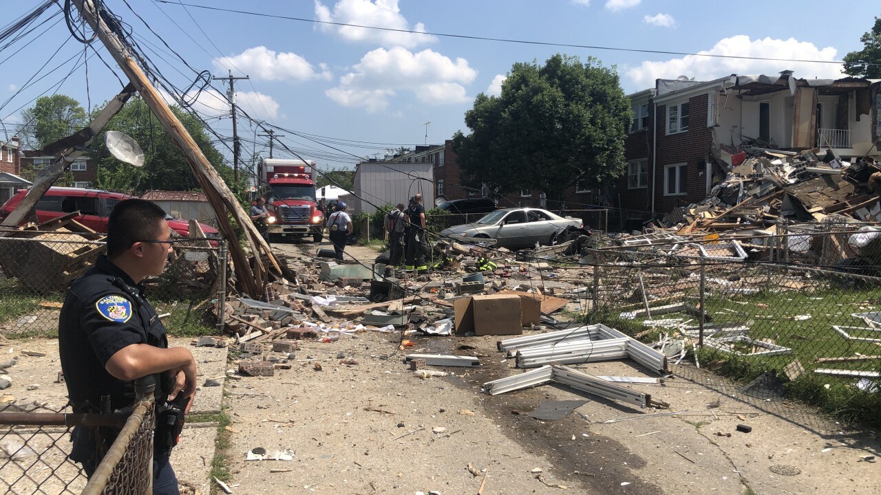 Baltimore explosion demolishes homes.JPG