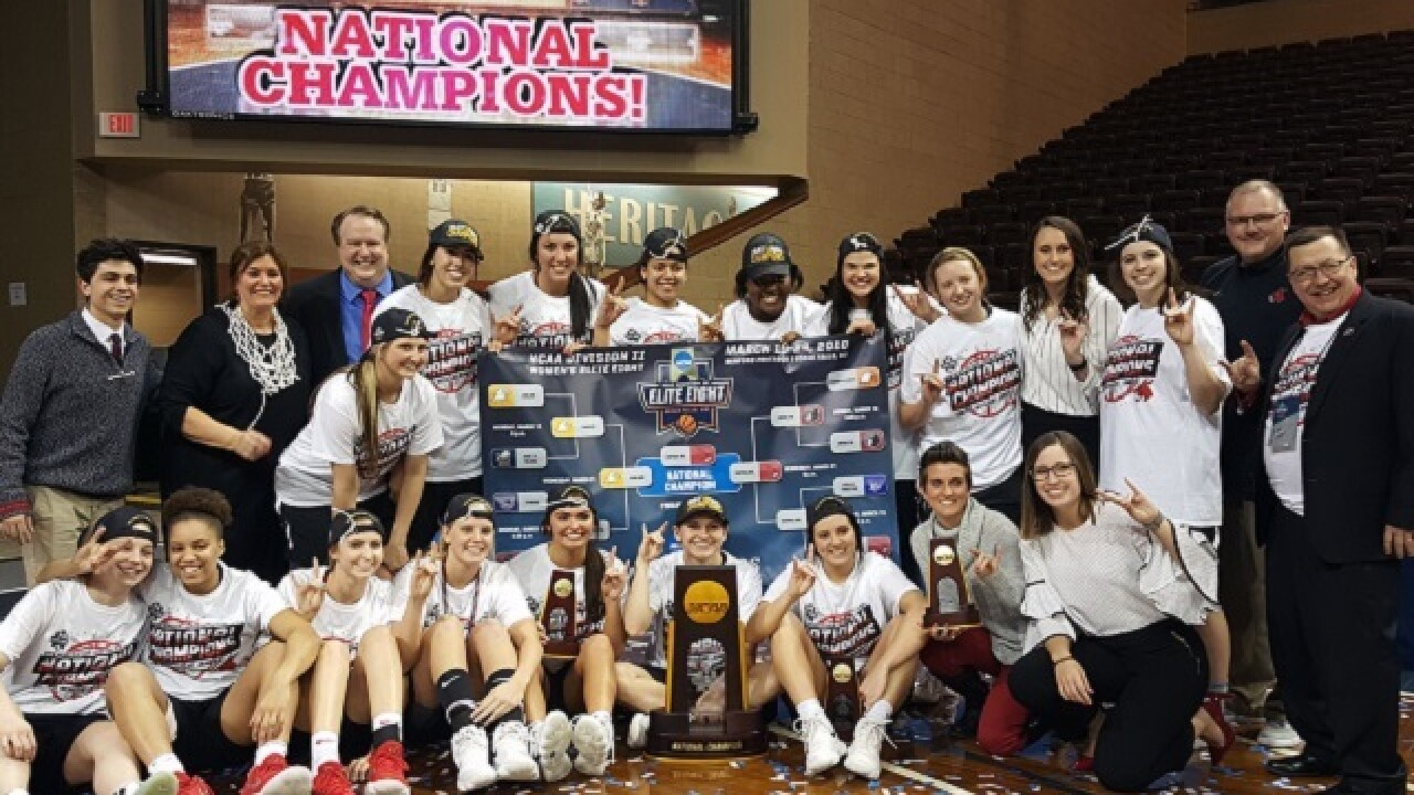 UCM celebrates women's national title