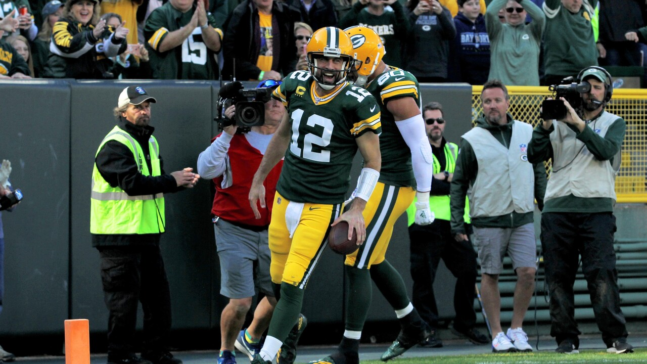 Rodgers after rush touchdown