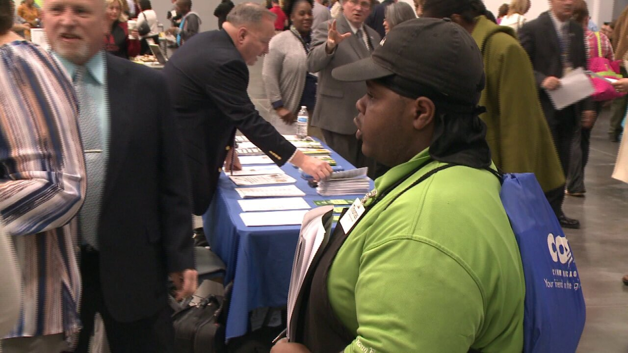"Displaced Farm Fresh & Toys ""R"" Us workers look for fresh start at job fair"