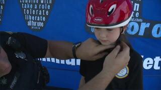 Brunswick Police helmet distribution