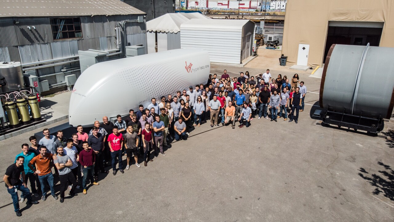 virgin hyperloop one test pod