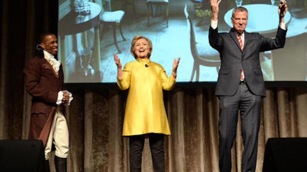 NYC mayor, Hillary Clinton take heat for skit