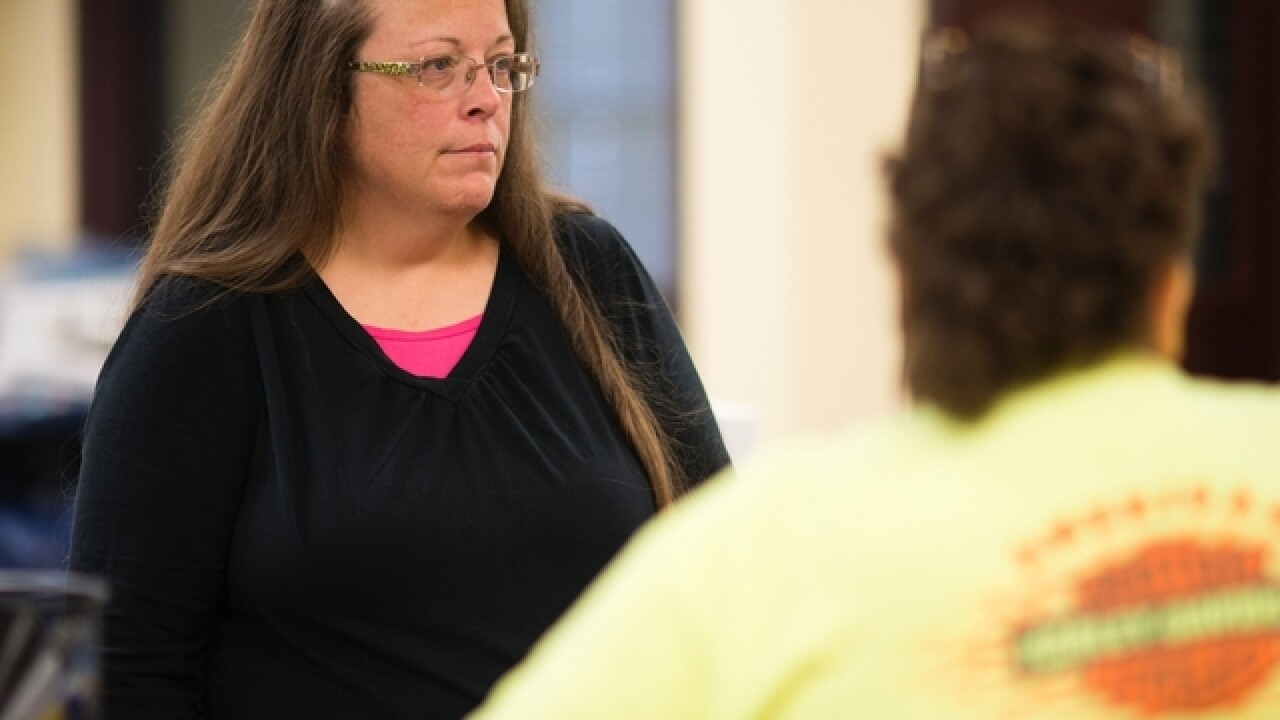 Court dismisses Kim Davis' lawsuit against Ky.