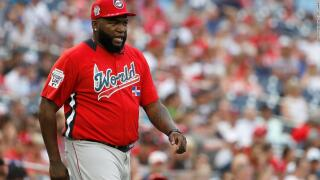 David Ortiz takes his first steps after multiple surgeries