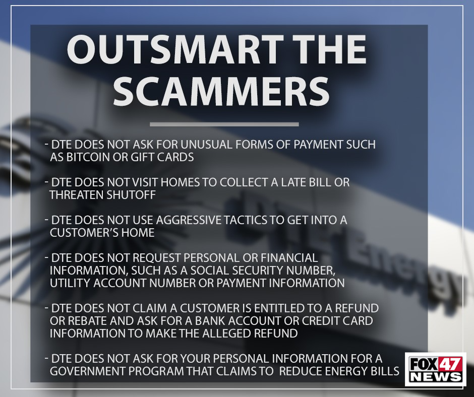 Ways that DTE Says You Can Outsmart the Scammers