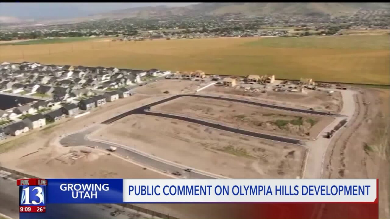 Salt Lake County Council hears public comment on OlympiaHills