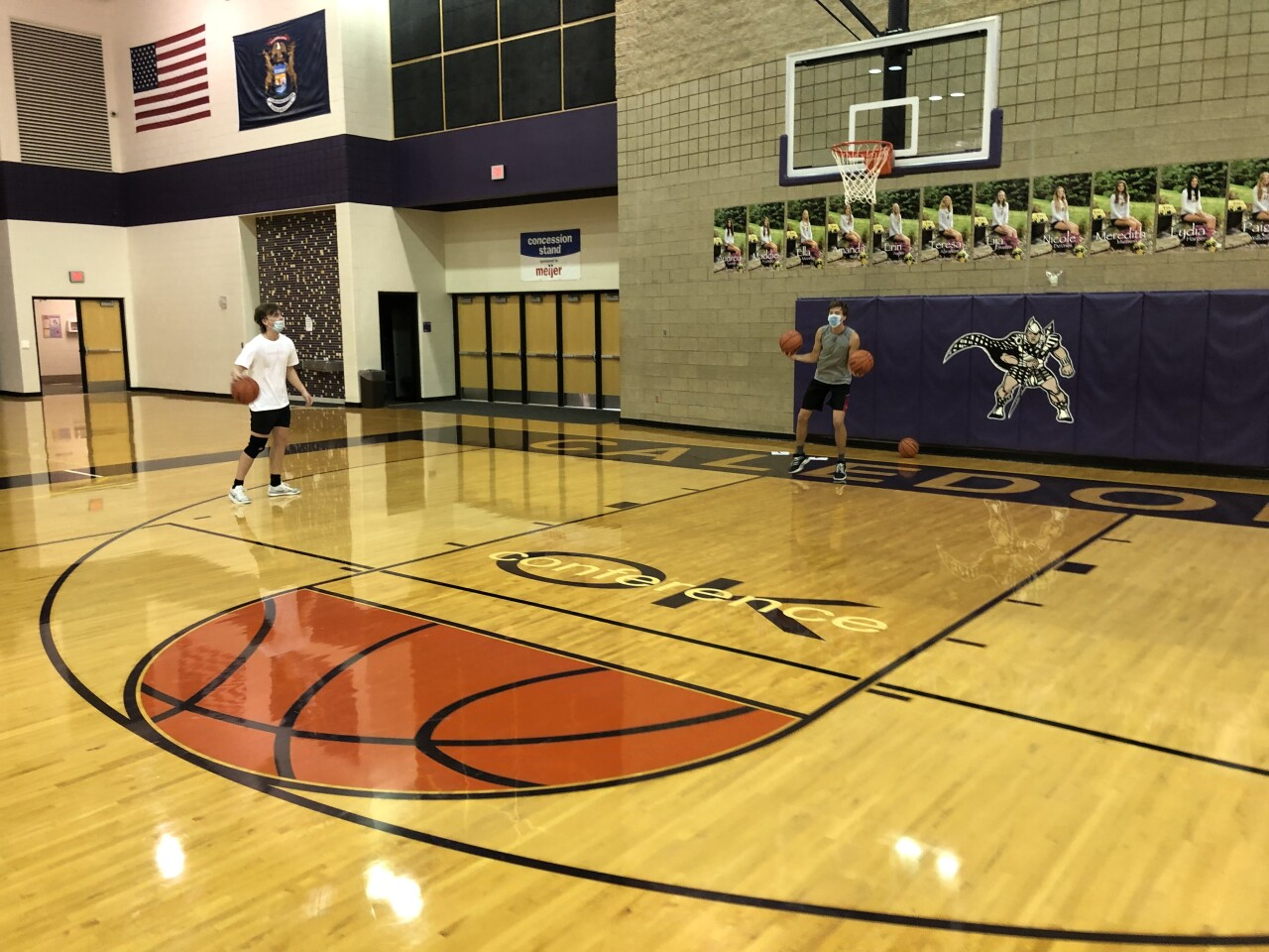 Caledonia boys basketball non-contact practice