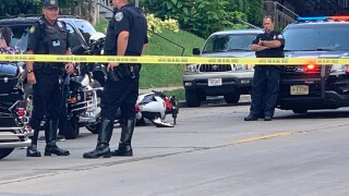 Motorcycle crash 11th & Burnham