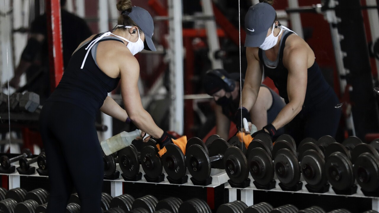 Virus Outbreak California Gym Owner Arrested