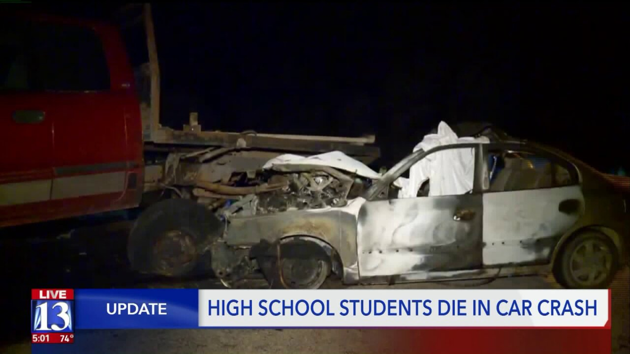 Police identify teens killed in late night crash in Sanpete County