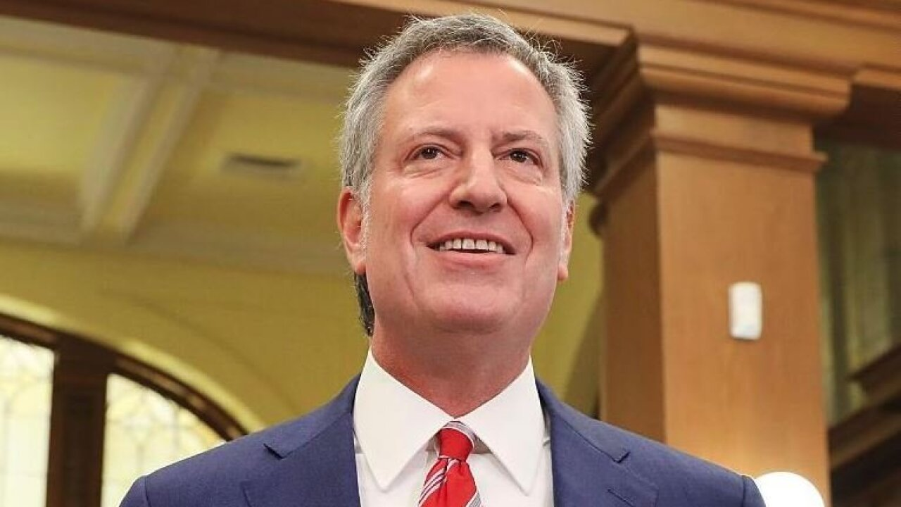 New York City Mayor Bill de Blasio announces 2020 presidential run