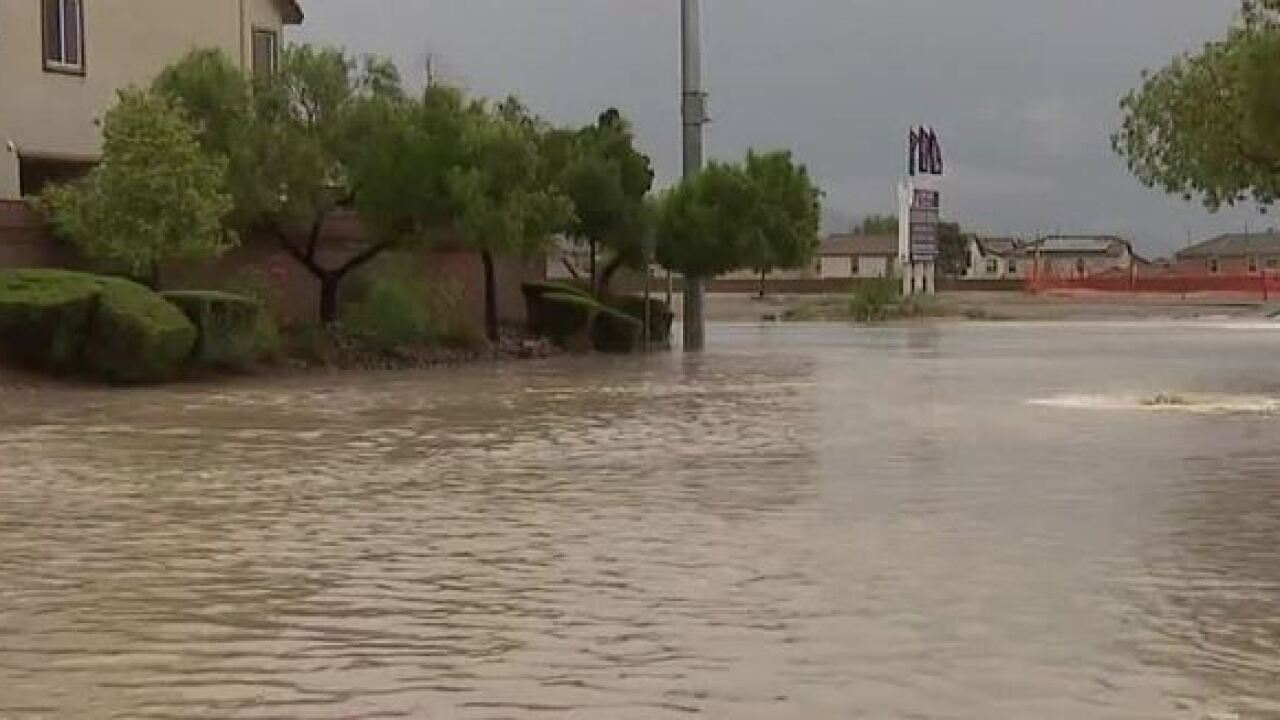 Flash Flood Warning in effect for Vegas valley