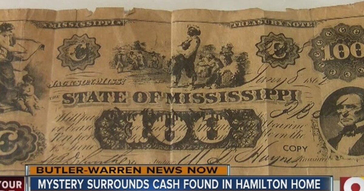 Confederate money found in Hamilton cellar  But is it real?