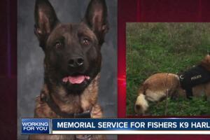 Memorial service for Fishers K-9 Harlej