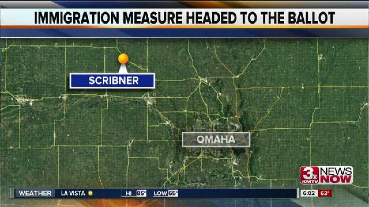 Public to vote on Scribner immigration measure
