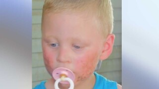 2-year-old may be with mother
