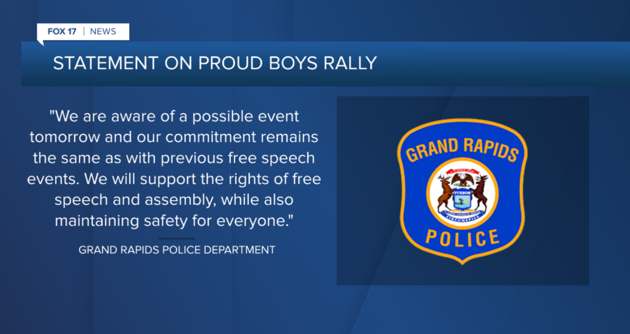 GRPD Statement on Proud Boys Rally