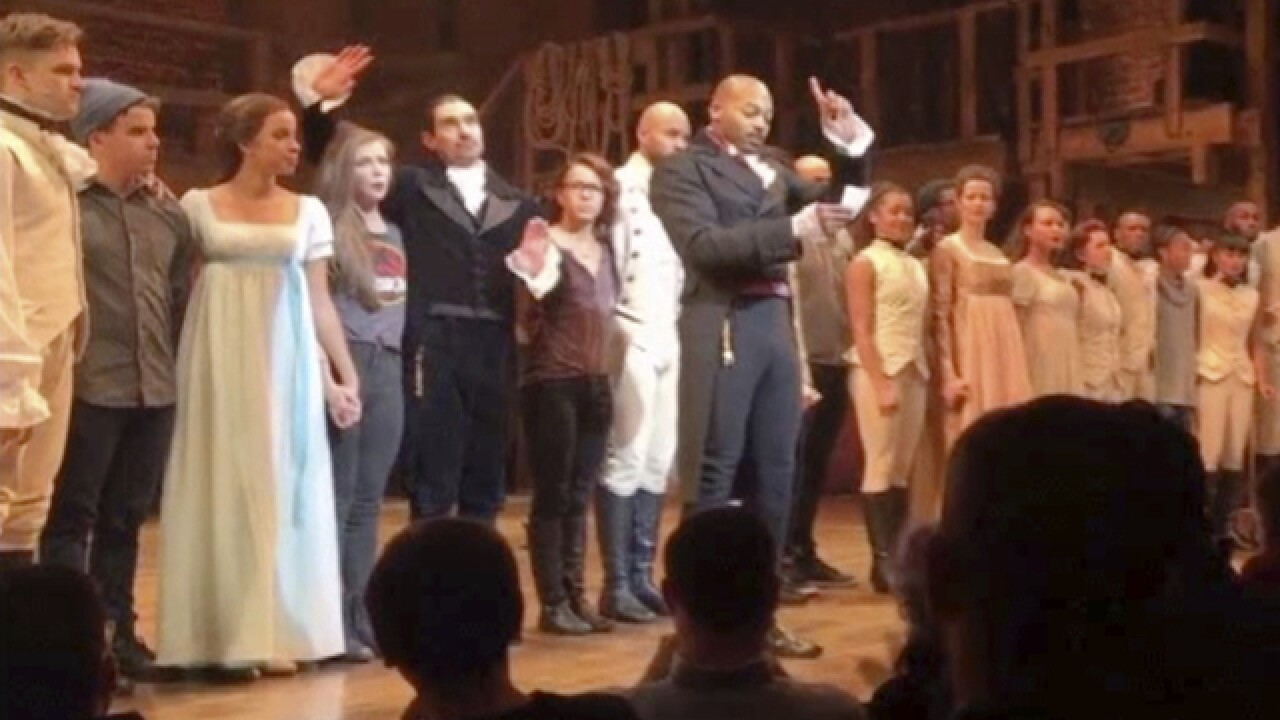 Trump calls on 'Hamilton' cast to 'apologize' to Pence