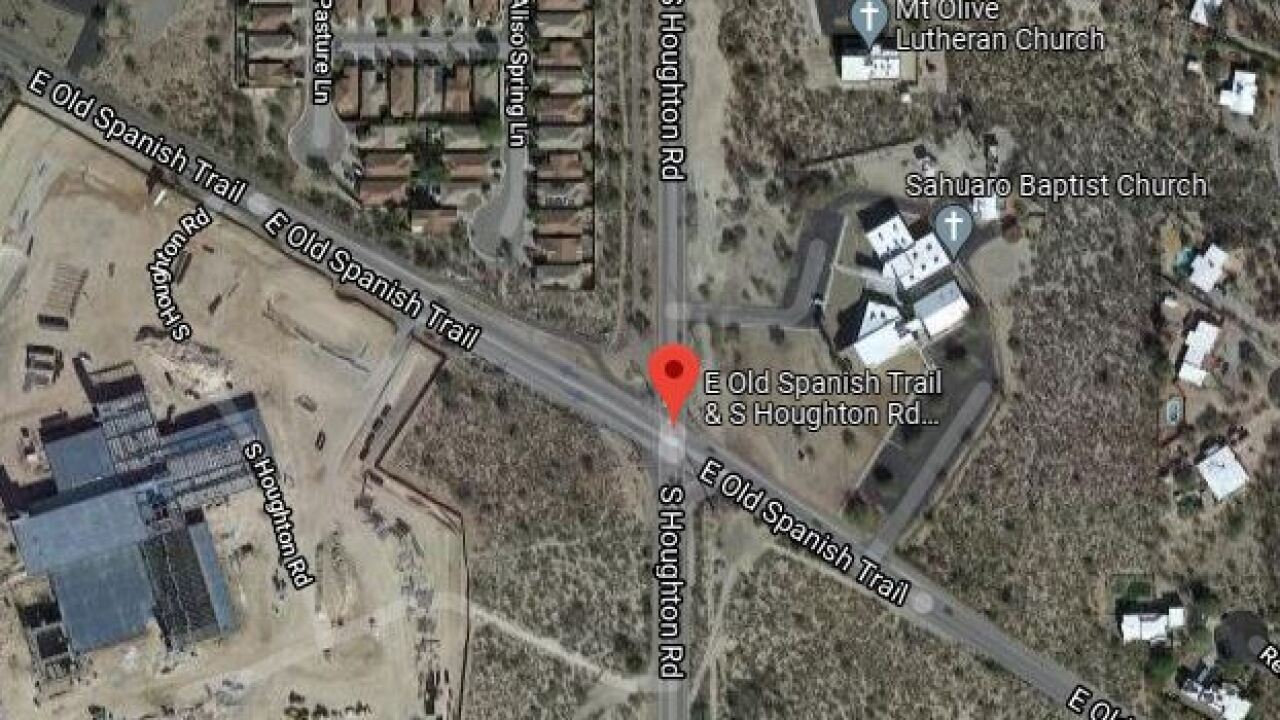 Someone died Wednesday after a Tuesday car crash on South Houghton Road and East Old Spanish Trail.
