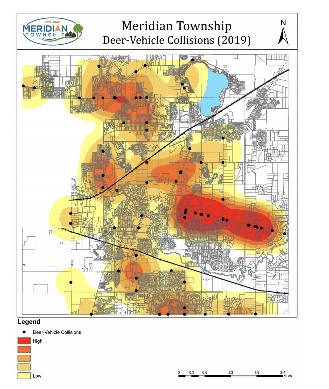 Meridian Township Deer-Vehicle Collisions (2019)