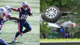 New England Patriots running back James White, Cooper City crash that killed father
