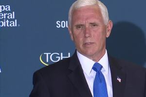 VP Pence: We are in a much better place to confront the rising cases impacting Fla.