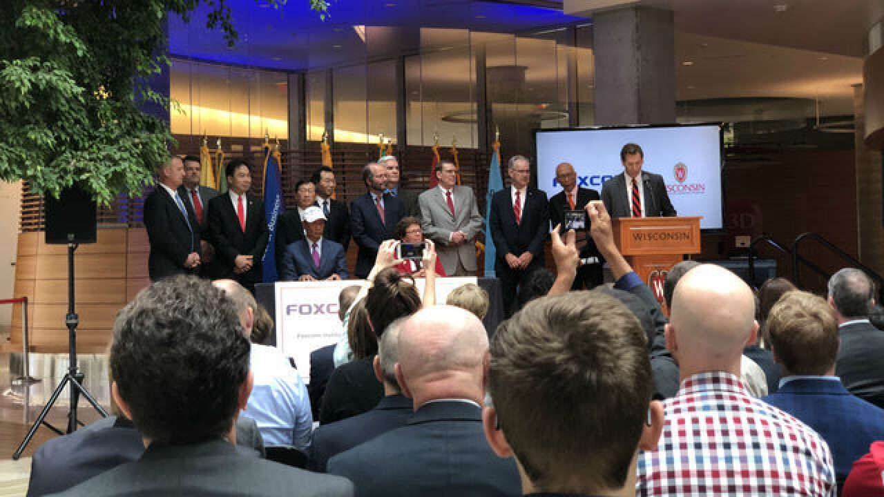 Foxconn giving $100 million to UW-Madison for partnership