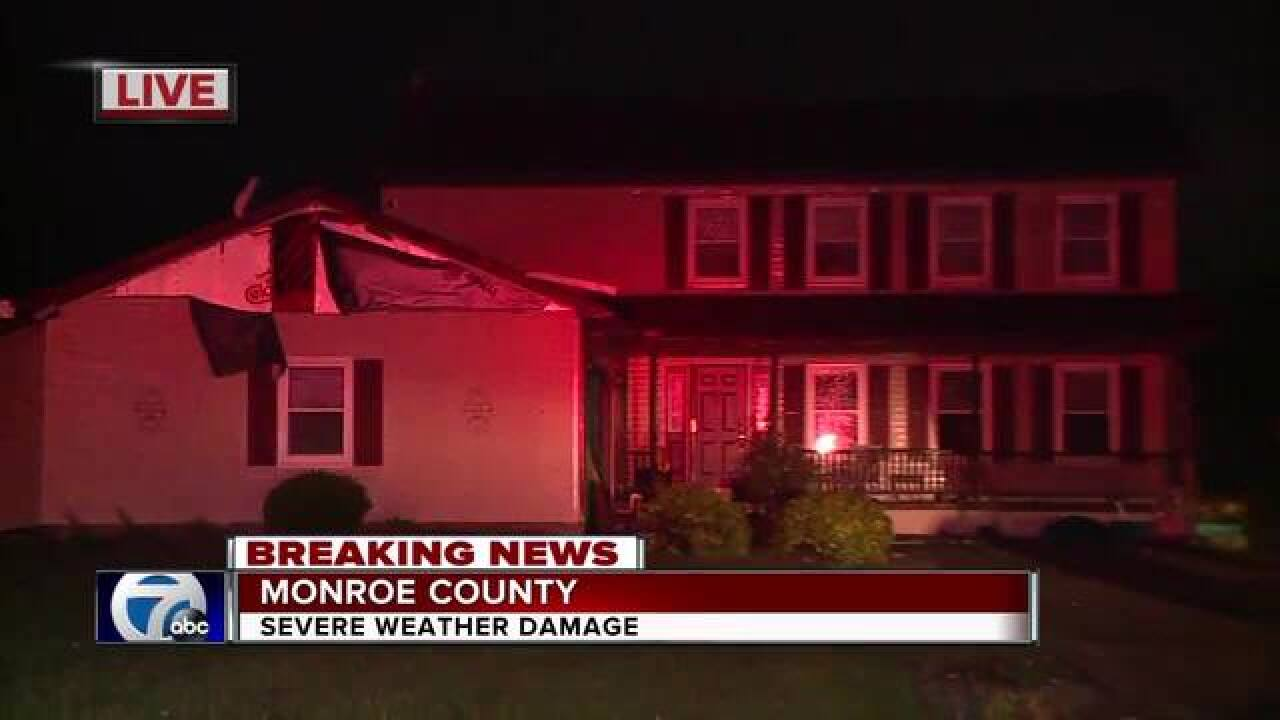Damage reported in wake of storms