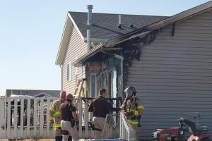 House fire at corner of Pintail and O'Reilly