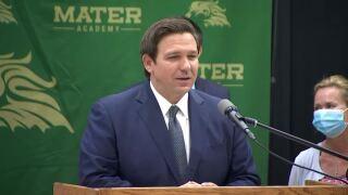 Gov. Ron DeSantis at Mater Academy, June 24, 2020
