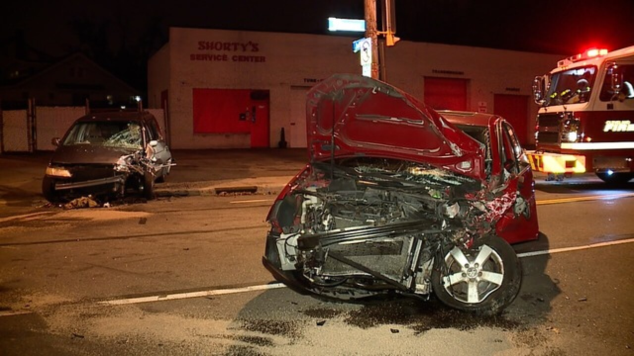 2 people taken to hospital after gnarly crash