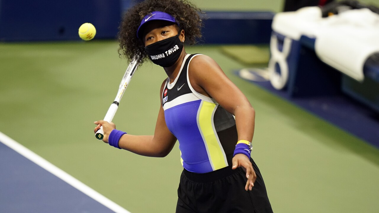 Naomi Osaka wears Breonna Taylor mask at US Open