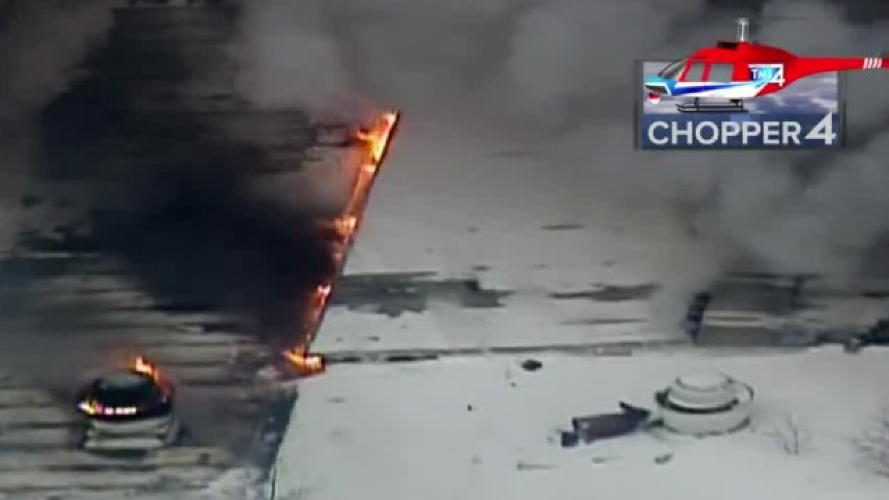 Milwaukee Firefighters Battle Blaze At Tire Shop On North Side