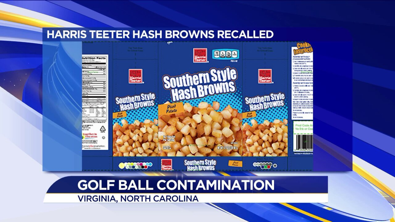 Harris Teeter hash browns recalled for possible contamination with golfballs