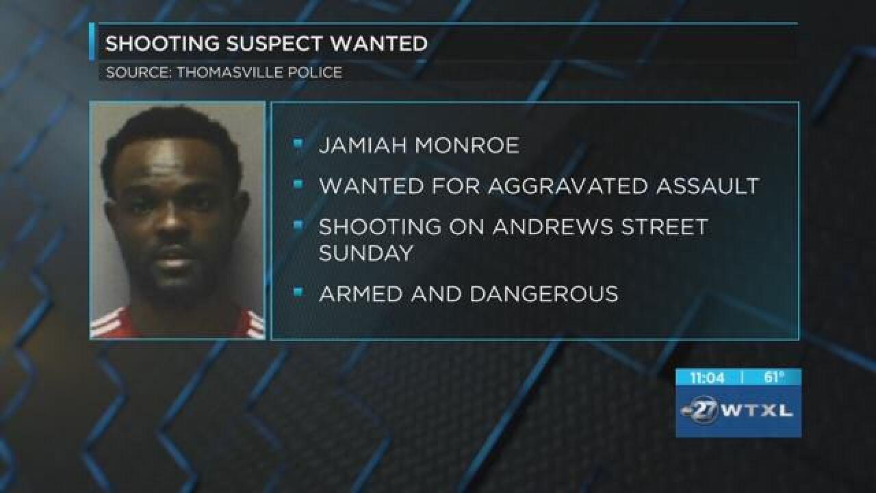 Thomasville police seeking suspect in shooting