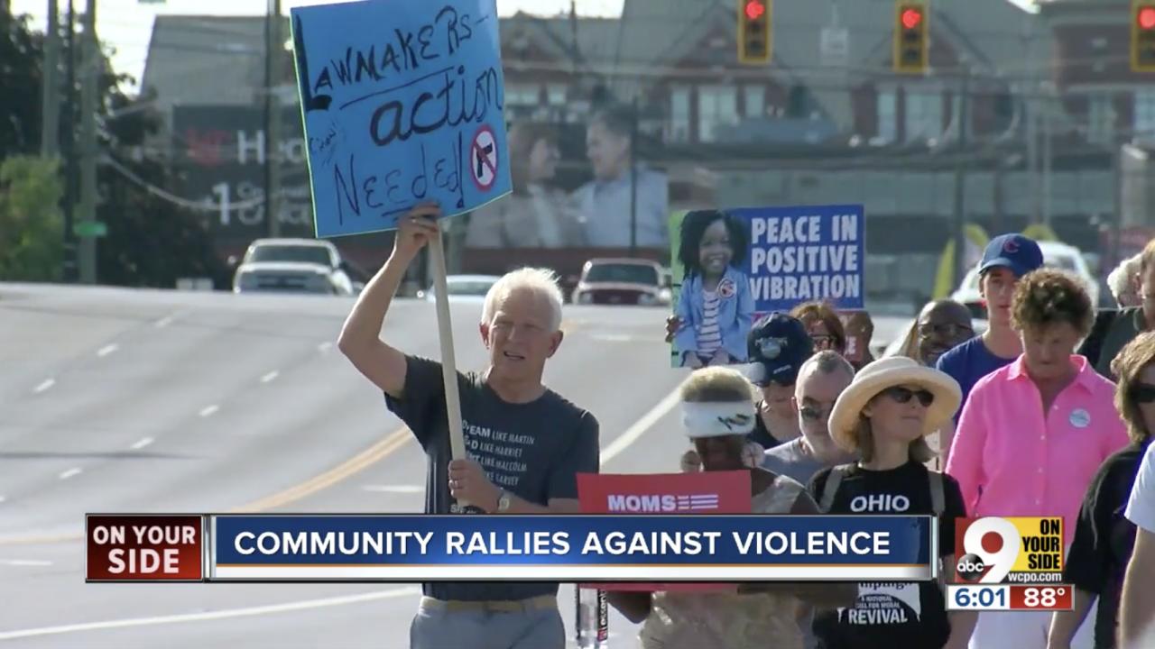 Anti violence demonstration