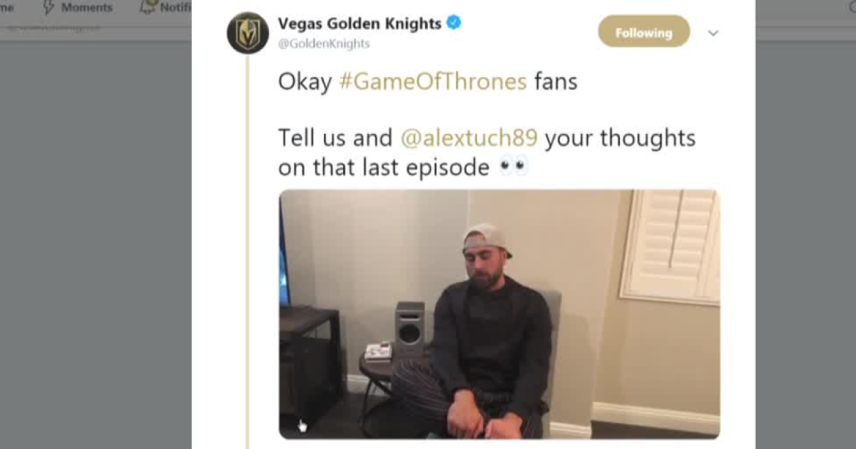 Vegas Golden Knights player Alex Tuch takes to Twitter after 'Game