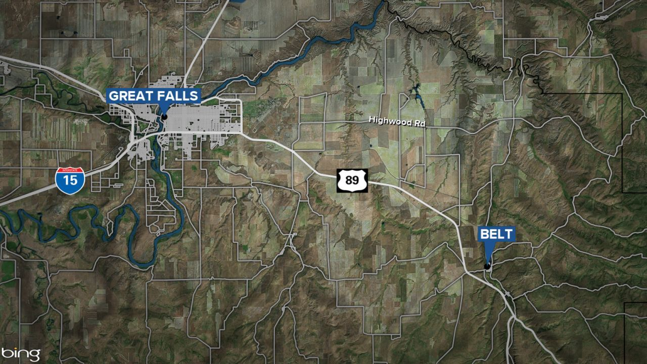 Belt and Great Falls map