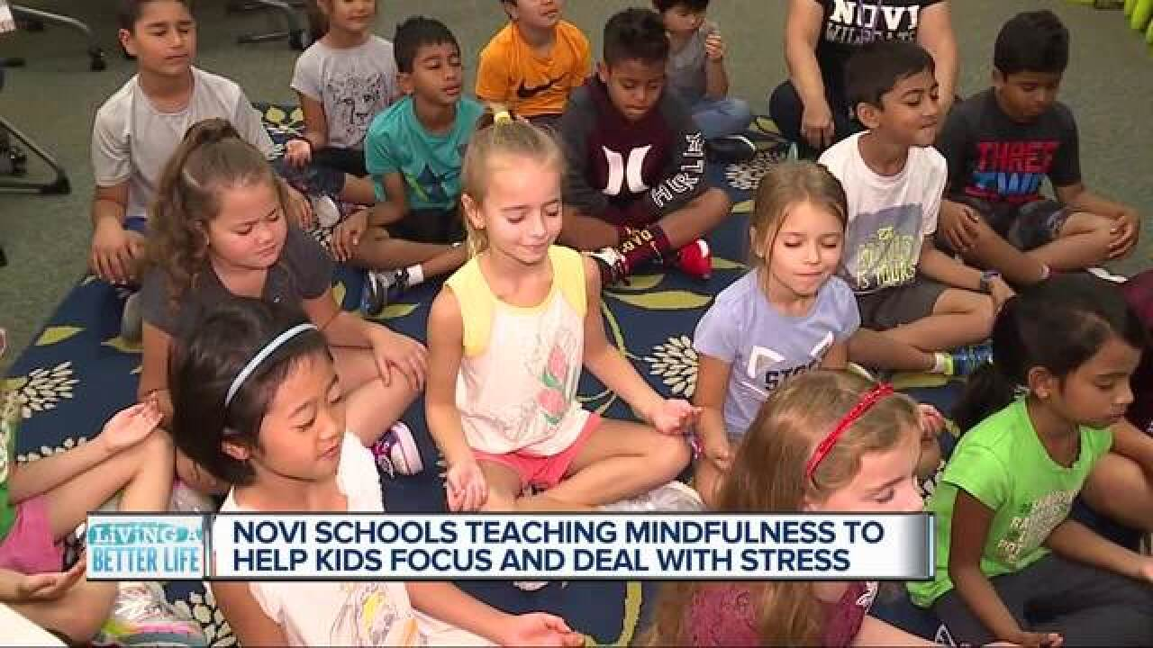 Second graders in Novi are learning mindfulness