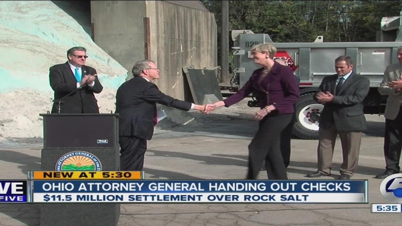 Cleveland to get $250K in rock salt settlement