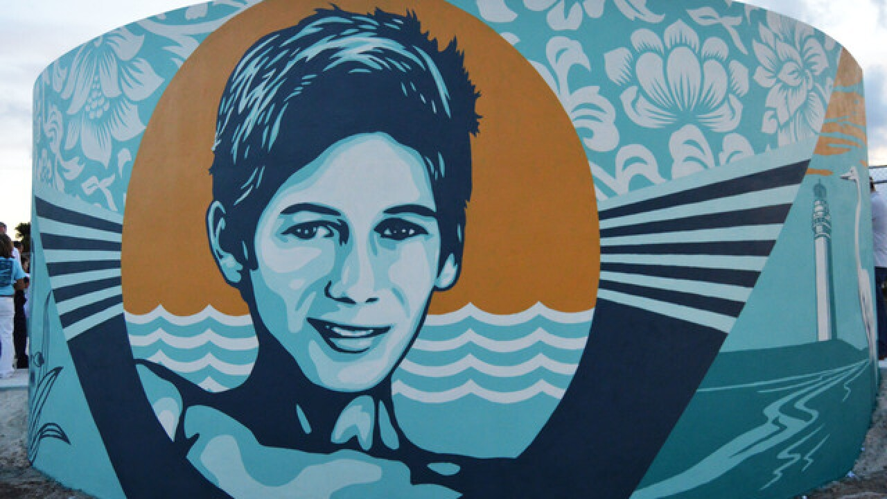 Students, world-renowned artist team up for Perry Cohen mural at Jupiter High School