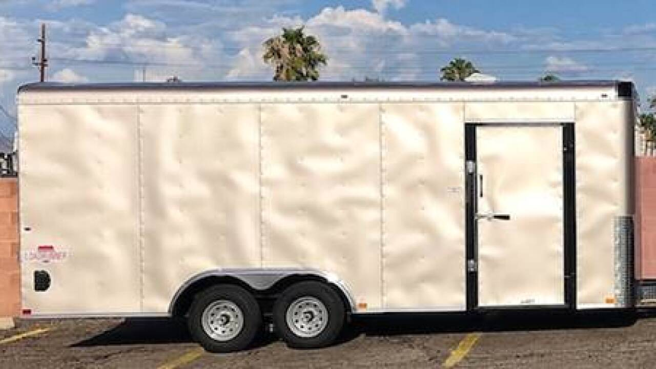 Stolen trailer with fossils inside