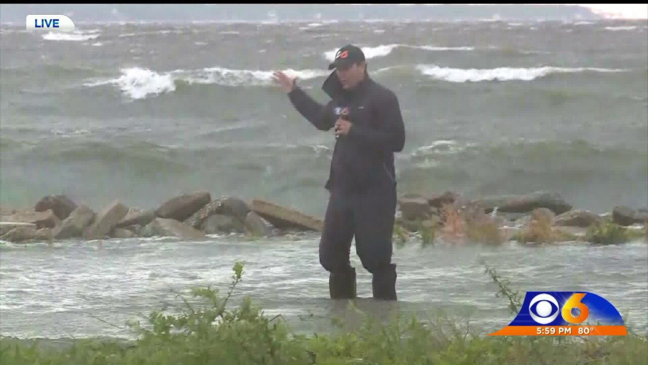 Outer Banks residents wait for floodwaters to recede; Dorian moves out tosea
